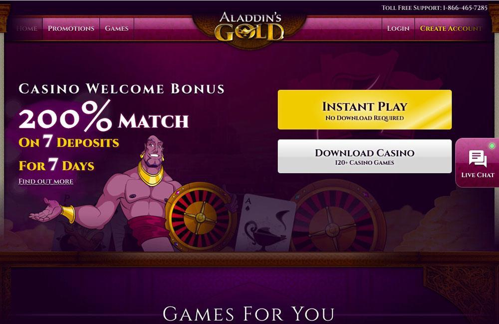 Aladdin Gold Casino Bonus Codes 2021