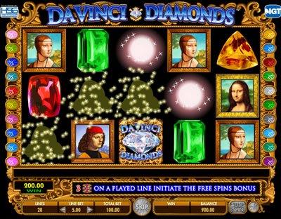 Da Vinci Diamonds Slot Machine By Igt Play Free In Casino
