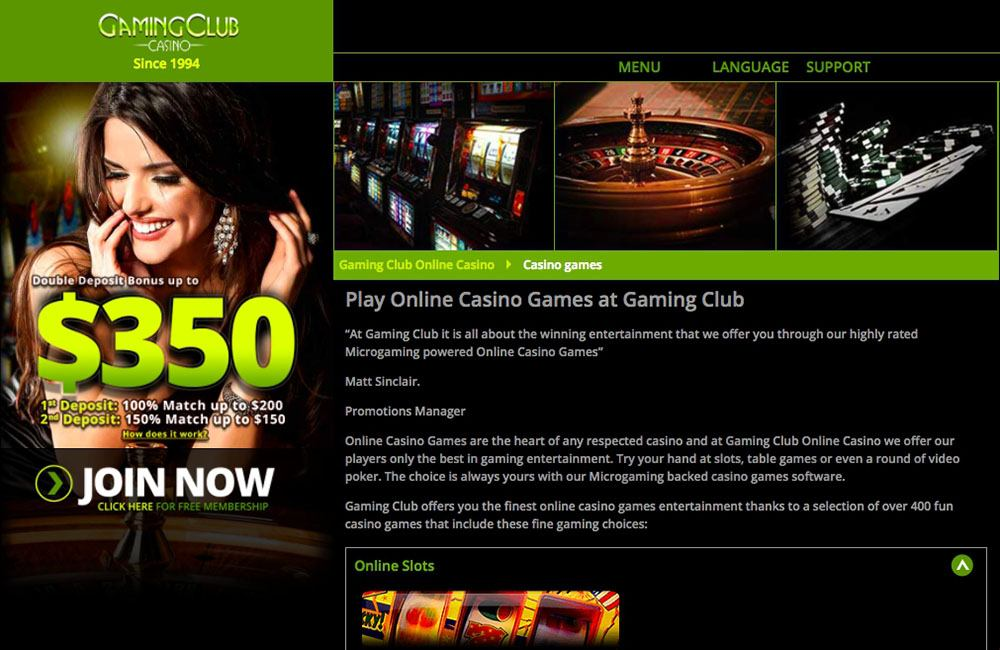 Gaming Club Casino Flash