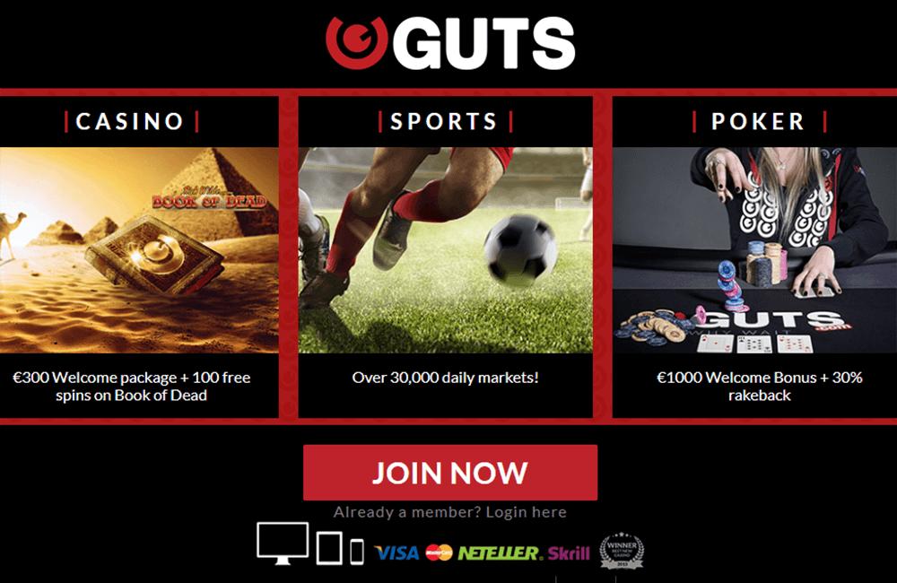 Guts Casino Bonus And Casino Review