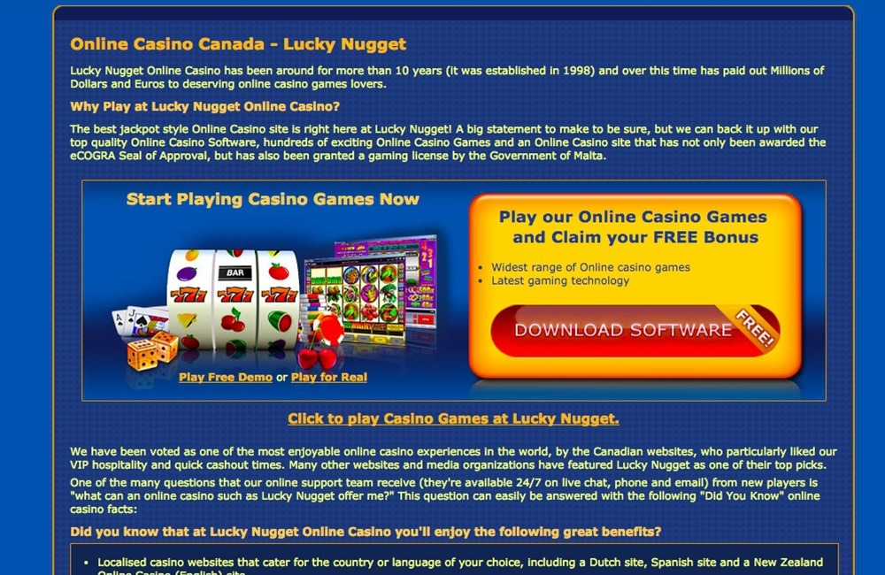 Lucky Nugget Casino Review Slot Games And Bonus Codes 2020