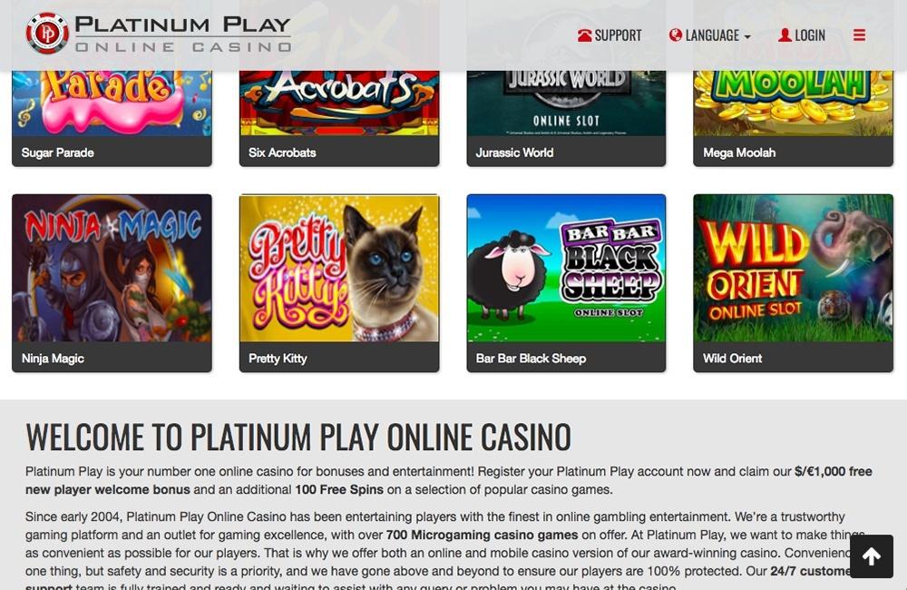 Platinum Play Casino Bonus Codes