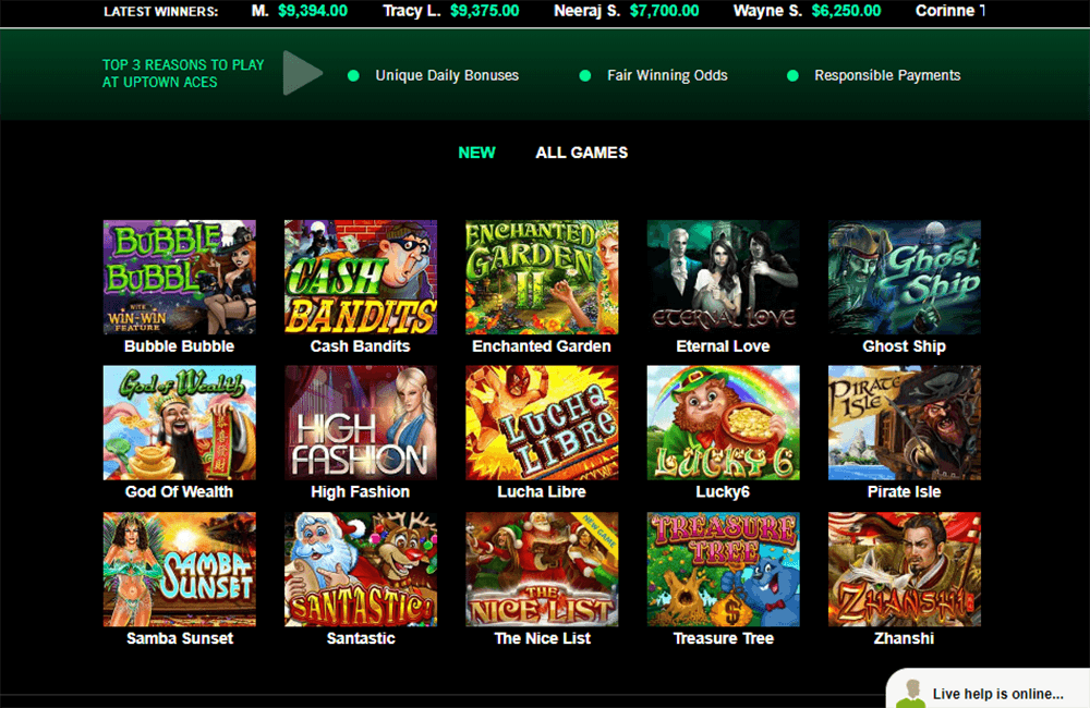 Uptown Aces Casino Instant Play