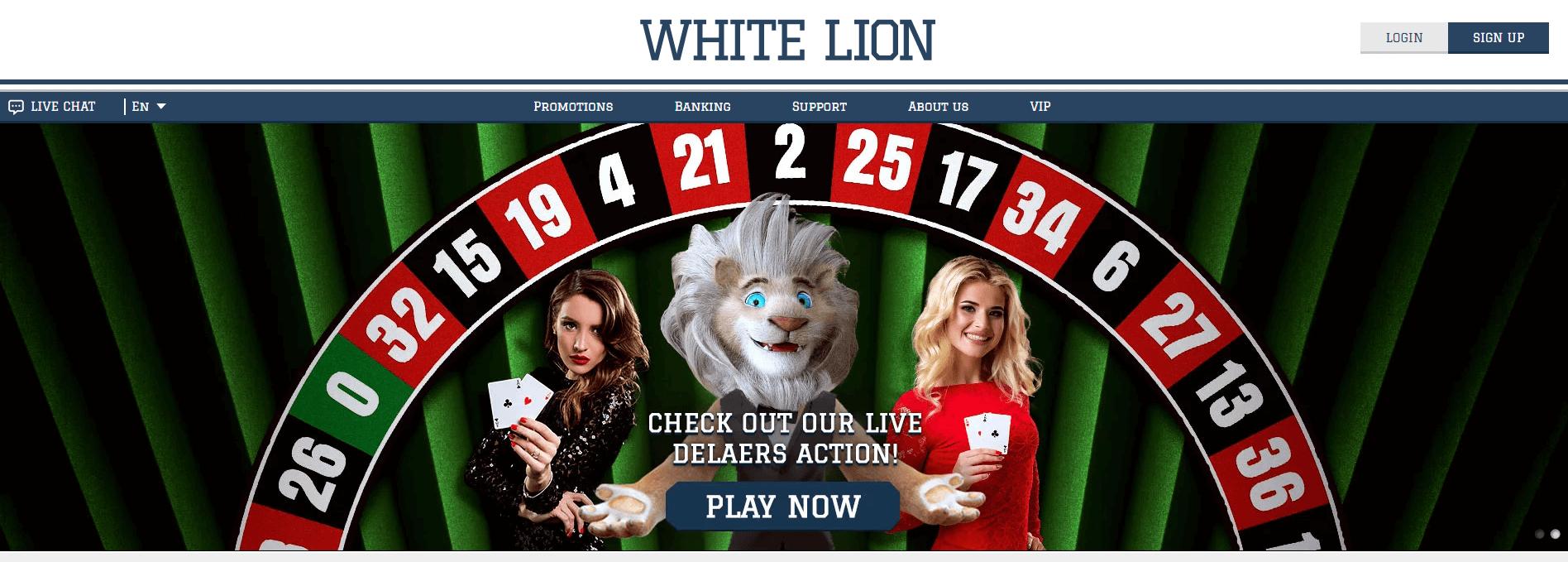 white lion casino login
