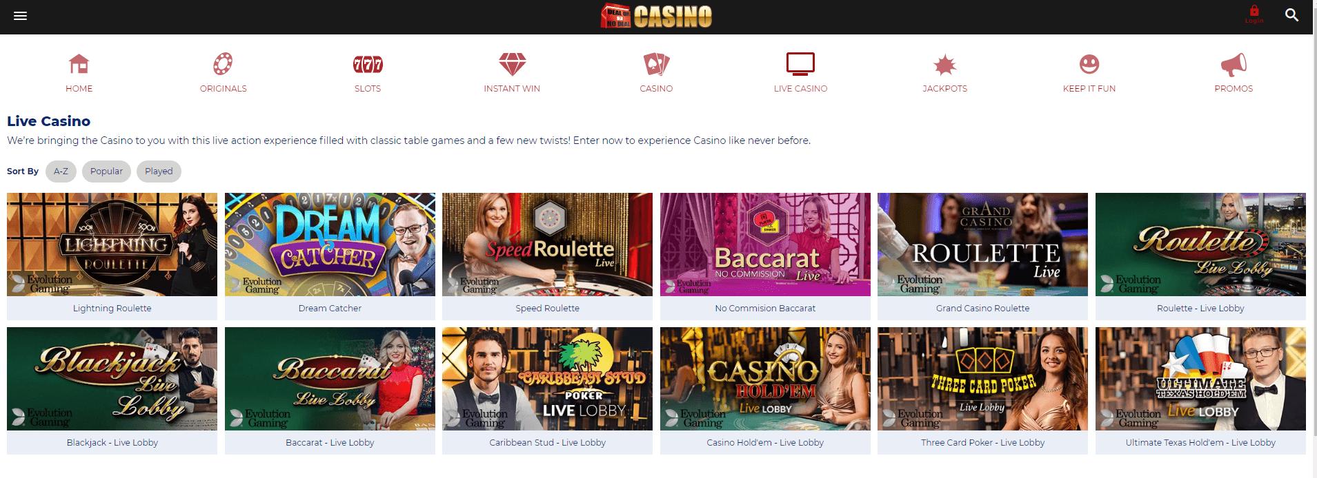 Dealornodeal Casino