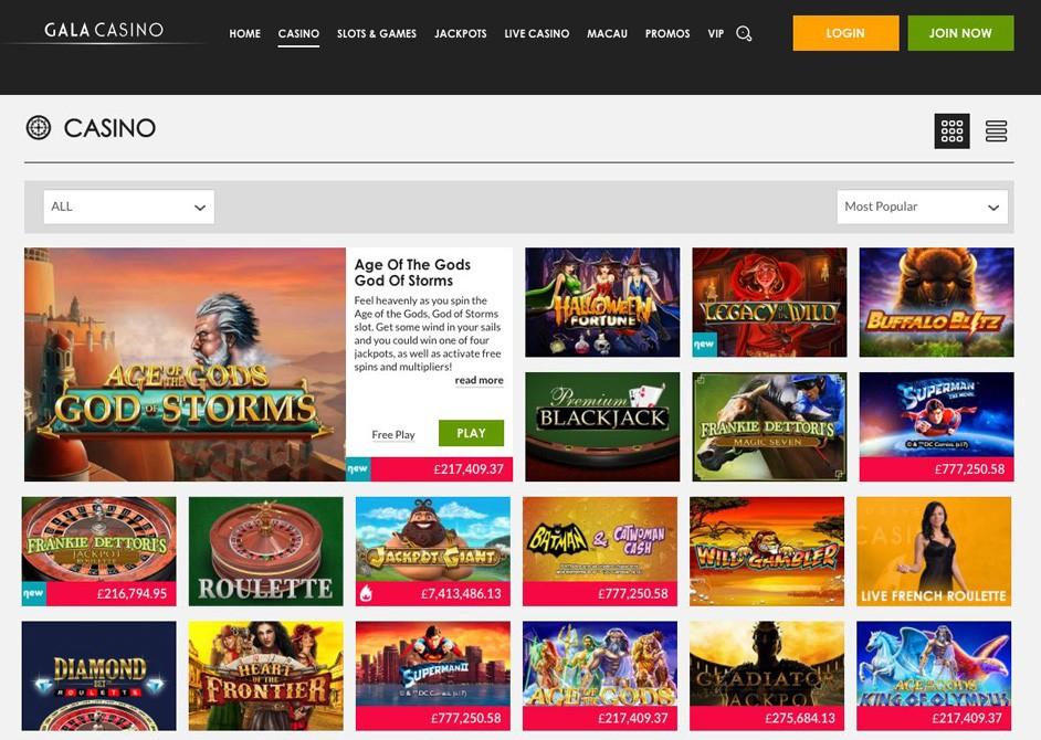 Gala Online Casino